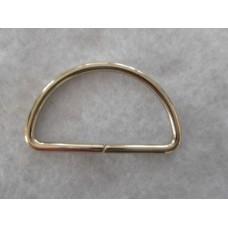 D-rengas,hopeanvärinen,46x29 mm,40 mm:n nauhalle