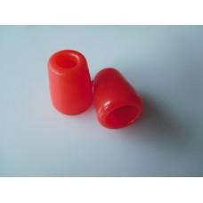 Muoviset nyörinpäät 2 kpl, 11x13,5 mm, punainen