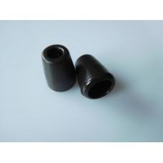 Muoviset nyörinpäät 2 kpl, 11x13,5 mm, tummanruskea
