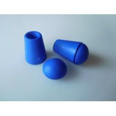 Muoviset nyörinpäät ja päätekupit 2 kpl, 11x18 mm, sininen