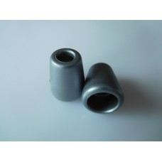 Muoviset nyörinpäät 2 kpl, 11x13,5 mm, harmaa