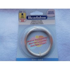 Hopeoitu metallilanka Beadalon 0.64mm 22gauge