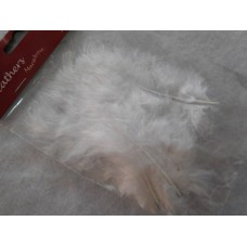 Valkoinen Marabou-höyhen, n.15 kpl/pss