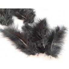 Musta Marabou-höyhen, n.15 kpl/pss