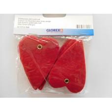 Huopasydämet 6 kpl/pss, punainen