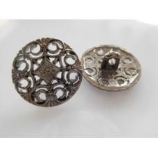 Metallinappi 20 mm, hopeanvärinen