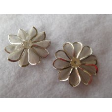 Hopeanvärinen kukka 40 mm