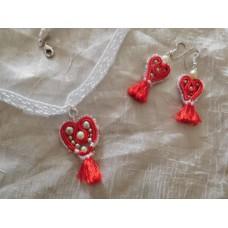Sydän korut,punainen