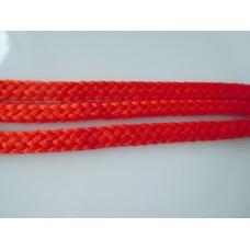 Punainen, litteä nyöri 6 mm